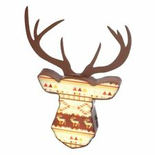 Christmas Decoration LED Wall Light Aztec Reindeer Head & Antlers BED037