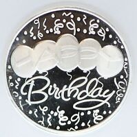 2020 Happy Birthday 999 Silver 1 oz Medal Round Gift Balloon Medallion ounce