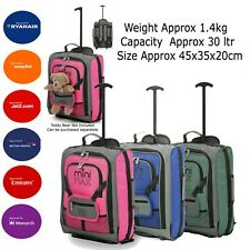 31c3713a82 Childrens Boys Girls Kids Hand Cabin Luggage Trolley Bag Suitcase Set Wheels