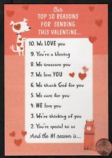 Valentine Dog Top 10 Reasons For Sending - Valentine's Day Greeting Card - New
