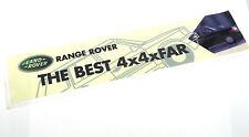 Genuine New RANGE ROVER THE BEST 4X4XFAR WINDOW STICKER Vogue Autobiography HSE