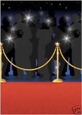Hollywood TAPPETINI ROSSI OSCAR FILM FESTA ROTOLO stanza decorazione