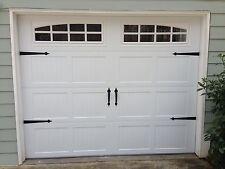 Garage Door Decorative Hardware Kit - Hinges & Handles - Double Kit - w/screws