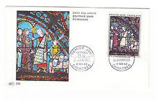 Francia FDC solo tag lettera 1963 dipinto U. pittura in vetro mi.nr.1453