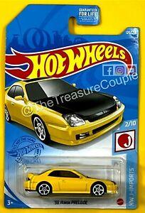 Hot Wheels -2021 - '98 Honda Prelude - Yellow - JDM - S39