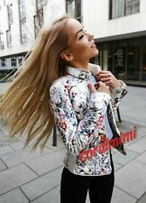 ZARA NEW FLORAL QUILTED FITTED JACKET SIZE XS