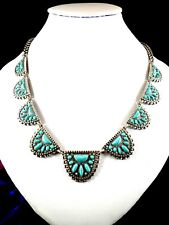 NWT LUCKY BRAND SILVERTONE TURQUOISE STONE SEMI PRECIOUS ACCENTS NECKLACE RT $49