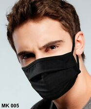 Facemask 3 COUNT Black Washable Reusable Breathable Fabric with Pocket filter