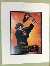 1926 Wisconsin BADGERS v Michigan WOLVERINES Football Program LITHOGRAPH 16 x 20
