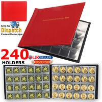 240 Coin Book Album Collection Collecting Money Storage Holder Case Coins UK