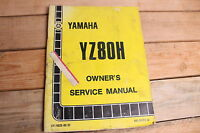 Yamaha YZ80H OEM Owners Service Manual LIT-11626-02-57