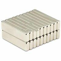 Neodym Magnet 40 x 10 x 5 mm Supermagnete hohe Haftkraft Quadermagnet - 5 Stück