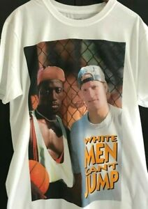 BRAND NEW Retro Vintage Style Official Licensed T Shirt White Men Can't Jump