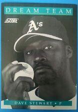 1991 Score Baseball Cards #883 - Dave Stewart (Dream Team 3 of 13) Ungraded