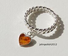 Anelli di lusso con gemme di argento ambra