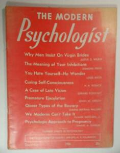 MODERN PSYCHOLOGIST MAGAZINE DEC 1936  QUEER TYPES OF THE BOWERY VIRGIN BRIDES