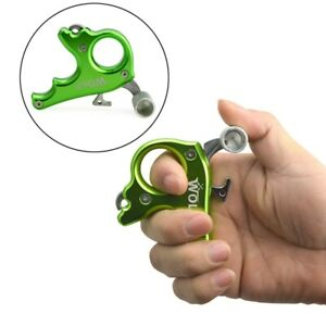 Archery Compound Bow Release Aids 3 Finger Grip Caliper Thumb Trigger AU STOCK