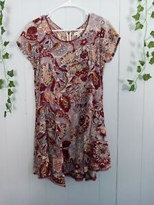 Urban Outfitters Silence + Noise Floral Dress With Fringe Size Small