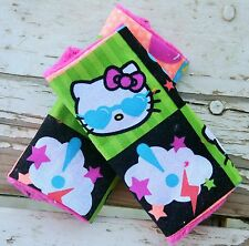 infant/toddler seat strap covers in Hello Kitty with pink minky