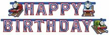 GHIRLANDA FESTONE HAPPY BIRTHDAY COMPLEANNO BAMBINO TRENINO THOMAS ADDOBBI FESTA