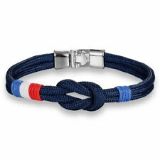Blue Marine Rope Bracelet Casual Anchor Marine Nautical Men's Sport Jewelry