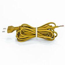 Euro Anschlußleitung goldfarbig 4m Kabel mit Eurostecker ohne Schalter Lampe