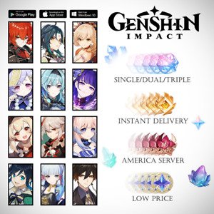 NA/America Account Genshin Impact Kazuha Diluc Eula Venti Klee Baal Kokomi Ganyu