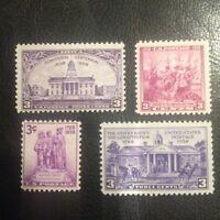 1938 MNH Commemorative Year Set Scotts 835-38
