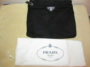 Prada Milano Nylon Crossbody Handbag With Protective Bag