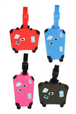Cute & Stylish luggage shape 4PC Lugagge Tags Set