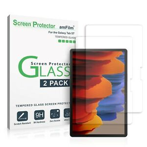 Samsung Galaxy Tab S7 (2020) amFilm Tempered Glass Screen Protector Film (2 PK)
