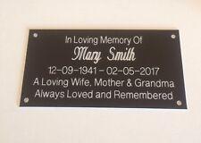 Personalised Memorial Bench Plaque