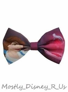 New Disney Beauty and the Beast Belle Ribbon Bow Tie Hair Clip Pin Costume Pin