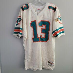 Rare VTG 90s Wilson NFL Miami Dolphins Dan Marino 13 White Jersey Mens 46 L