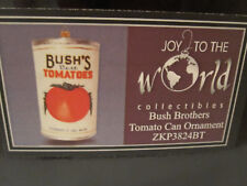 Bush Brothers Tomato Can by Joy To The World New In Box European Glass Ornament