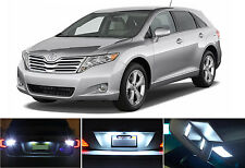 LED for Toyota Venza Xenon White LED License Plate + Reverse + Vanity (6 pieces)