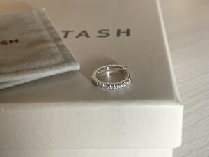 Maria Tash 9.5 mm 3/8 Eternity Diamond Hoop Ring White Gold NEW