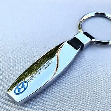 NEW HYUNDAI LOGO METAL CHROME KEYCHAIN KEY-CHAIN Key Ring KC015