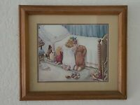 Framed VTG Art: Little Girl & Friends Bedtime Prayer - Artist H. Muradian