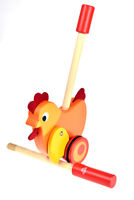 Wooden Push Along Chicken | Tooky Toy | Toddler Baby | Animal a long Chicken