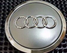Audi 4 pcs Wheel center cap Gray Chrome Logo 70 MM #4B0601170A