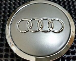 Audi 4 pcs Wheel center cap Gray Chrome Logo 70 MM #4B0601170A