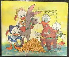 Lesotho- Disney Donald Family Reunited- Souvenir Sheet