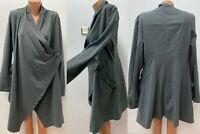 RUNDHOLZ Black Label size M / L 95%WOOL Unusual Jacket Cardigan Asymmetrical