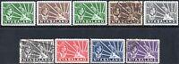 1938 Nyasaland Sg 130/136 Short Set of 9 Mounted Mint/Fine Used