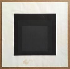 JOSEF ALBERS 1965 silkscreen print LATE Soft Edge-Hard Edge Portfolio lewitt