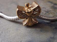 Edelstahl Bead Element Engel Farbe Gold für Armband 1669