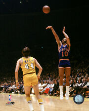 WALT FRAZIER NEW YORK KNICKS JERRY WEST LA LAKERS *LICENSED* 8X10 PHOTO