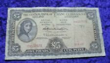 1968 Irish £5 A Series Banknote Lady Lavery Vintage Ireland Five Pound Note