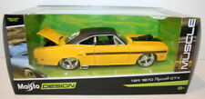 New! MAISTO Diecast Model Toy Car 1:24 Scale - 1970 Plymouth GTX - Yellow MUSCLE